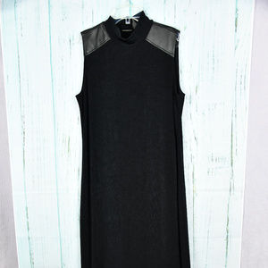 Travelers by Chico's Maxi Knit Black Dress Size 2